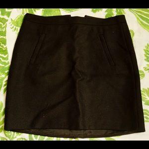J. Crew pocket wool mini skirt
